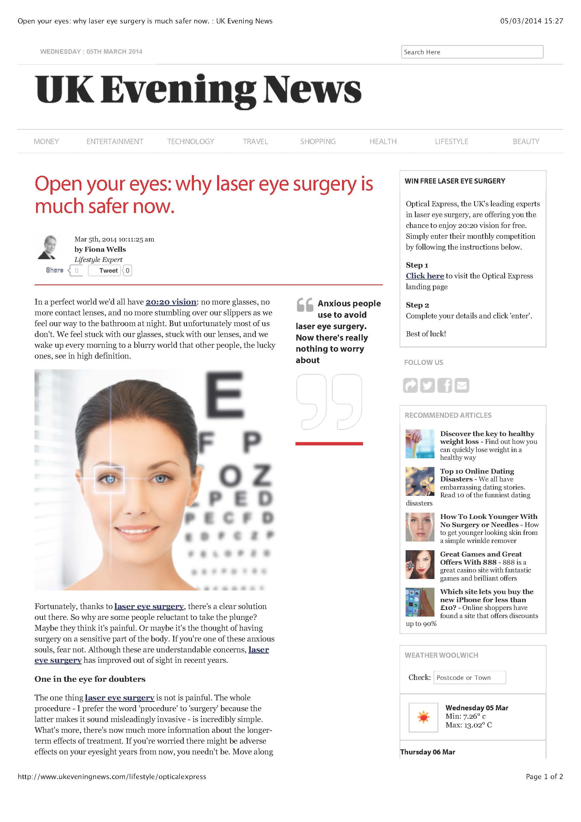 Optician Article