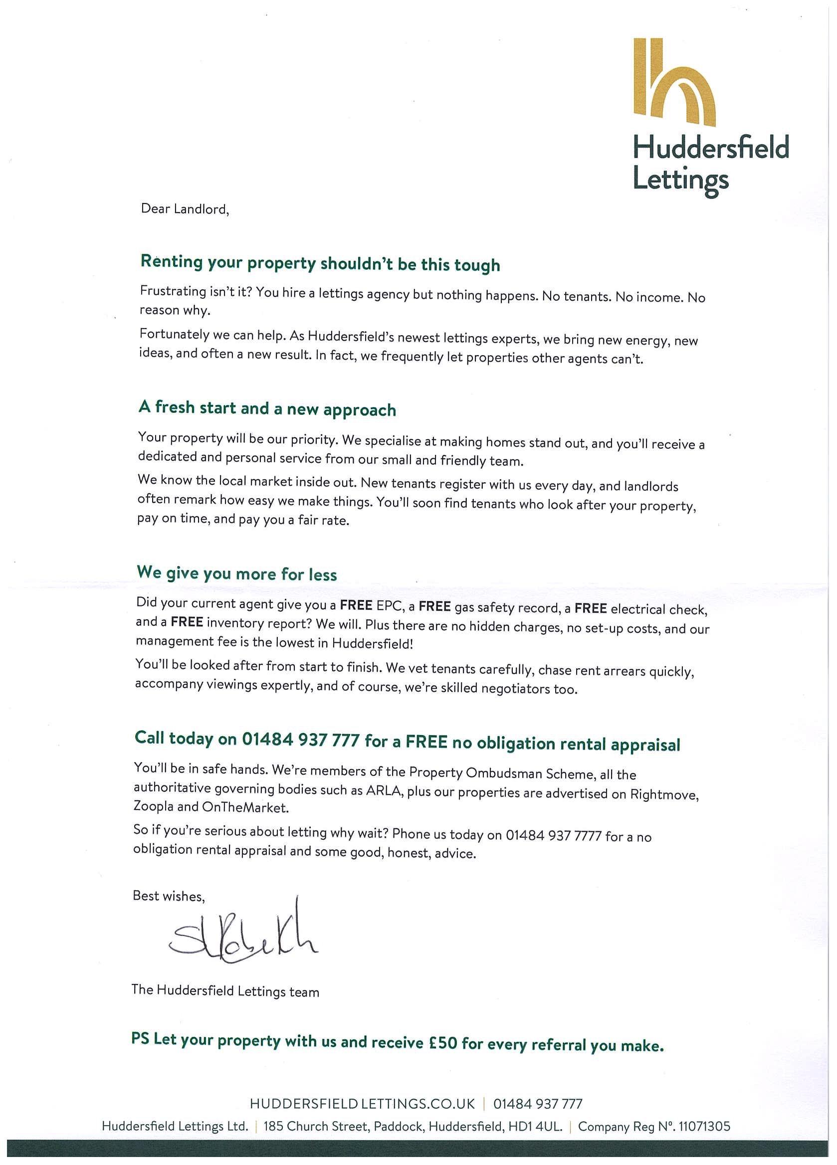 Estate Agent Sales Letter
